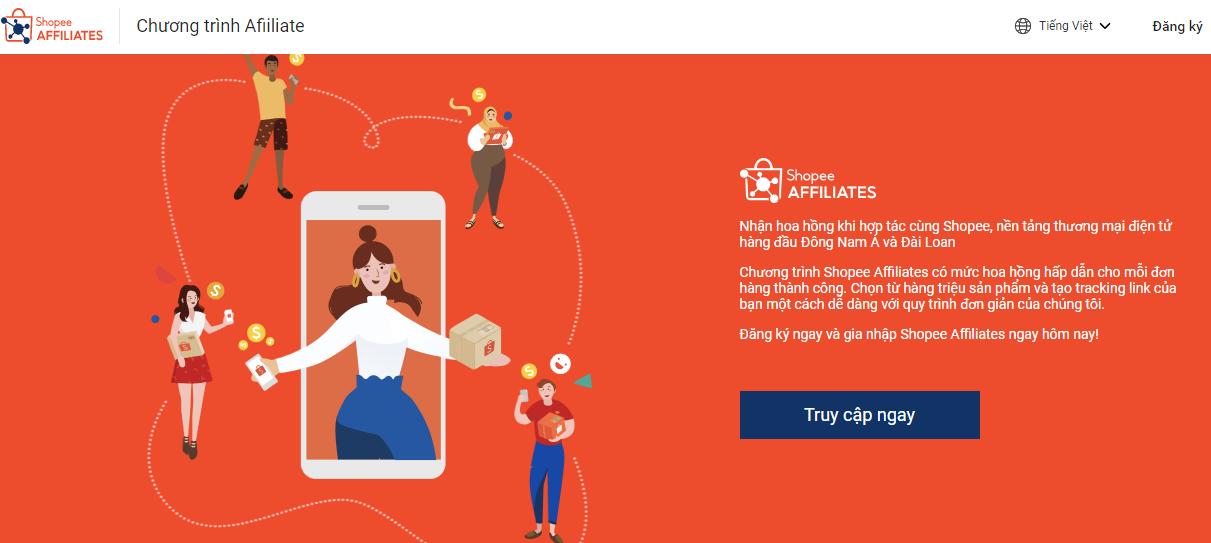 Chương trình Affiliate Shopee cập nhật mới 2021