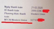 Mã 10 số MTCN của Western Union