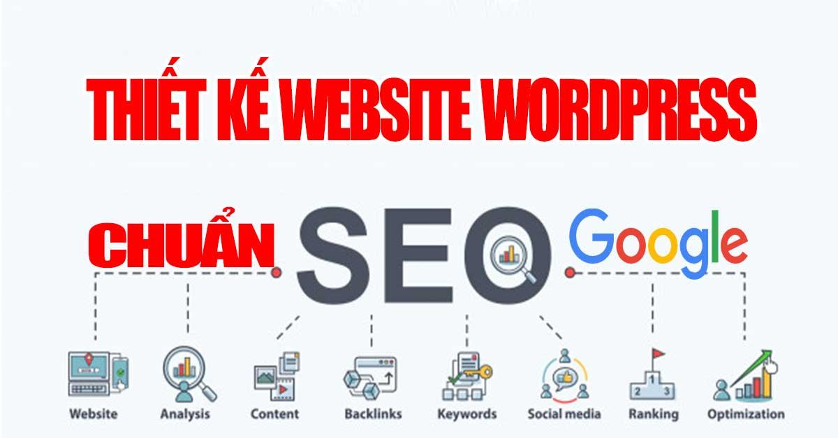 Thiết kế website wordpress chuẩn seo google