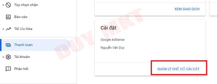 Hướng dẫn khai báo thuế google adsense