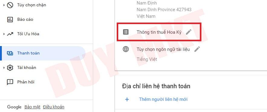 Hướng dẫn khai báo thuế google adsense 02