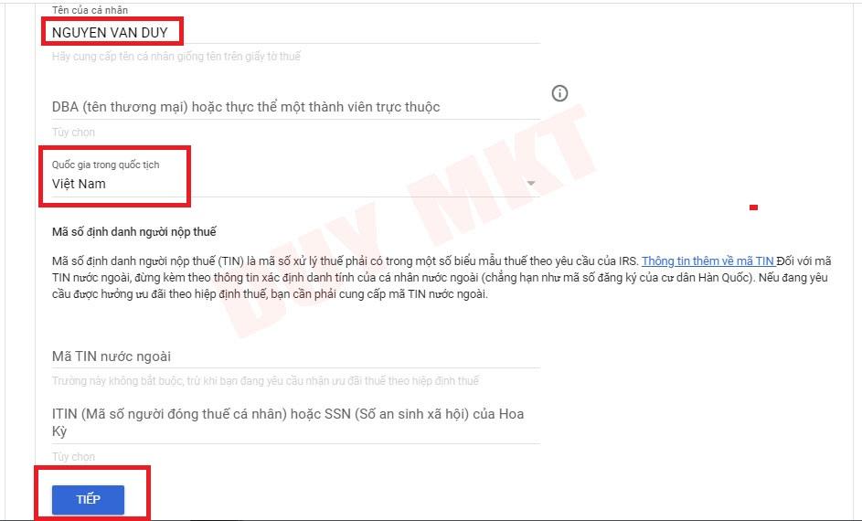 Hướng dẫn khai báo thuế google adsense 05