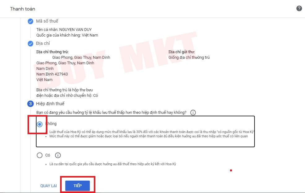 Hướng dẫn khai báo thuế google adsense 07