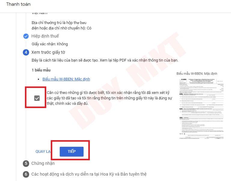 Hướng dẫn khai báo thuế google adsense 08