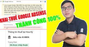 Hướng dẫn khai báo thuế cho tài khoản google adsense