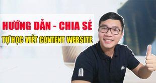Hướng dẫn chia sẻ tự học viết content website