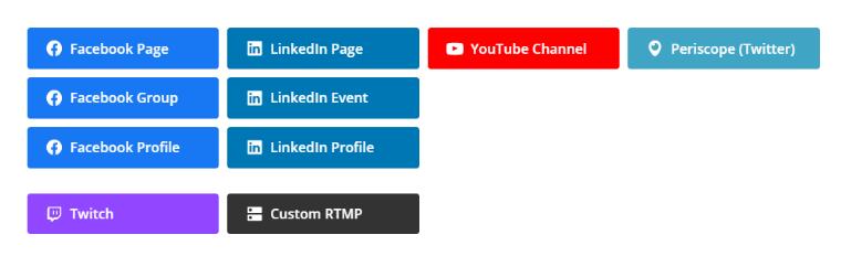 Chọn nền tảng mạng xã hội mà bạn muốn livestream