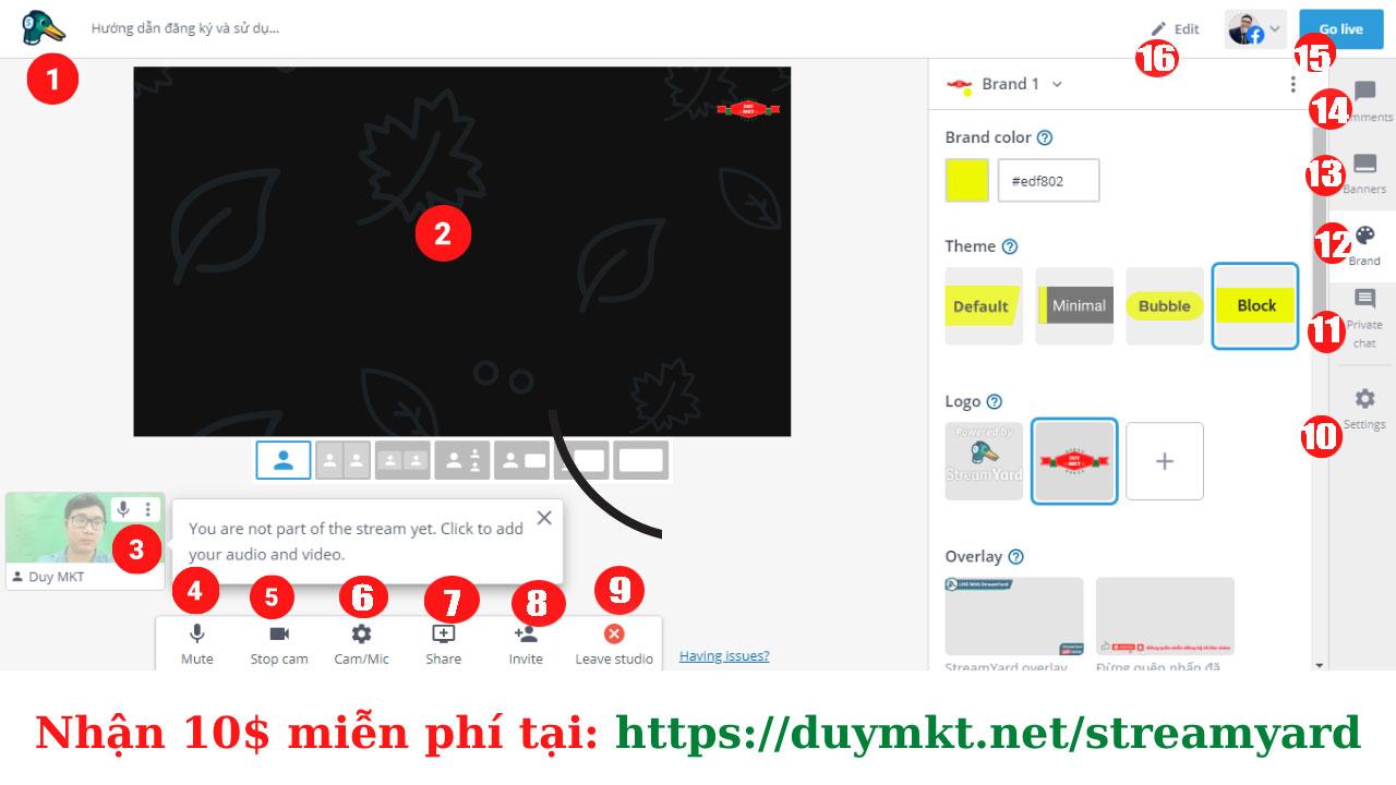 Chia sẻ các chức năng của ứng dụng livestream StreamYard cực chất và dễ sử dụng