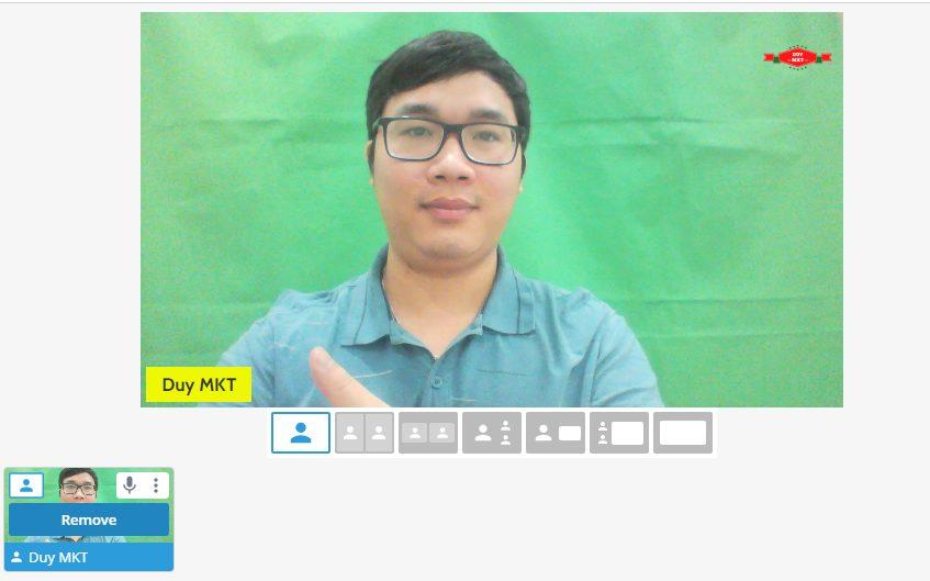Xuất hiện trên màn hình làm việc của ứng dụng StreamYard